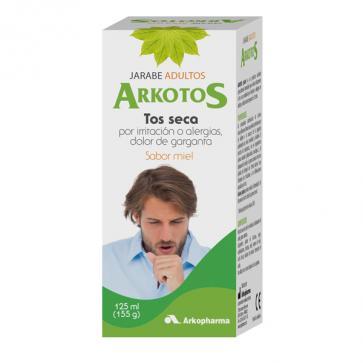 Arkotos Tos Seca Jarabe Adultos Sabor Miel 125 ml - Dolor de Garganta, Alergias
