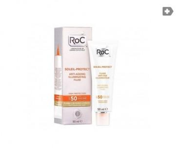 Roc Soleil Protect Fluido Reductor de Arrugas SPF 50+ 50 ml - Anti Arrugas y Protector Solar
