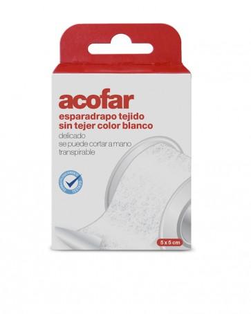Acofar Esparadrapo Tejido Sin Tejer Color Blanco 5x1.5 cm - Botiquín, Vendaje