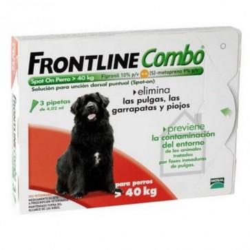Frontline Combo Spot-On Perros Mayores de 40 Kg - Elimina Pulgas, Piojos y Garrapatas