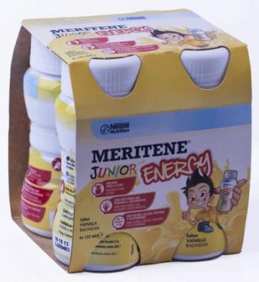 Meritene Junior Energy Batido Sabor Vainilla 4 x 125 ml - Complemento Alimenticio