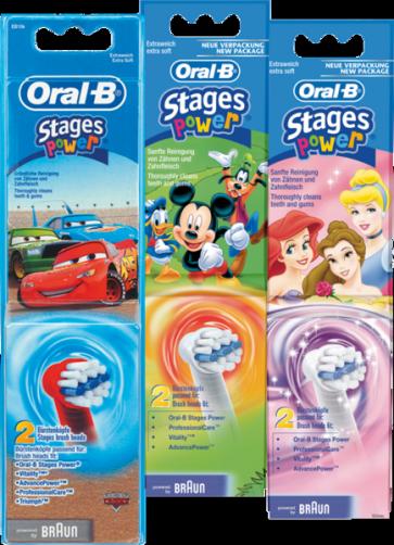 Oral-B Cabezal Infantil Stages Power 2 Recambios