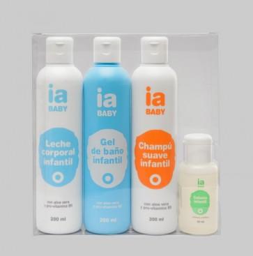 Pack de Higiene Infantil de Interapothek - Gel + Champú + Leche Corporal + Colonia - Limpieza Baño y Ducha