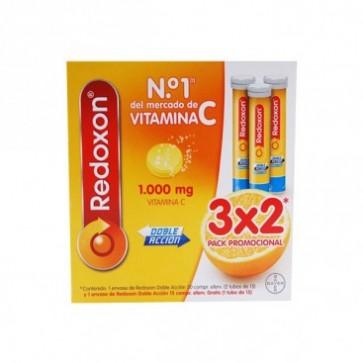 Redoxon doble acción 3x2 promocion especial vitamina c y zinc