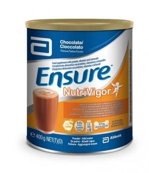 Ensure Nutrivigor Polvo Chocolate 400 G - Vitaminas, Minerales, Disminuye Cansancio, Huesos Fuertes
