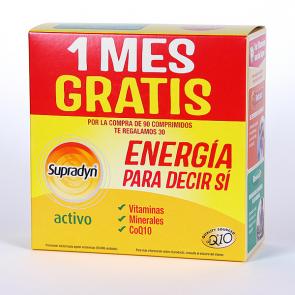 Supradyn Activo 90 Comprimidos + 30 Comprimidos de Regalo - Energía, Selenio, Zinc