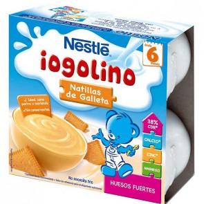 Iogolino Natillas Con Galleta 4 Unidades de 100 Gr