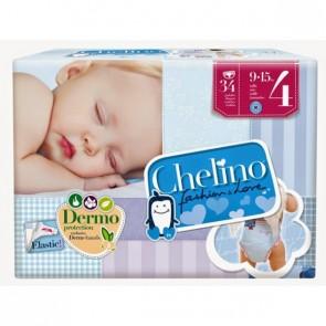 Pañales Chelino Infantil Fashion & Love Talla 4 de 9 a 15 Kg 34 Unidades - Pañal Hipoalergénico