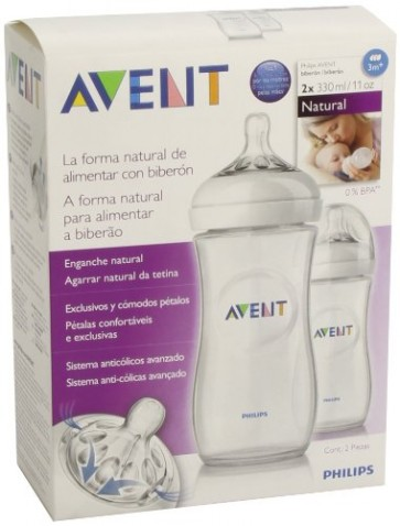 Philips Avent Biberón Pp Natural 330 ml 2 Unidades