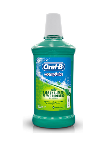 Oral-B Complete Fresh Colutorio Sabor Menta Sin Alcohol 500 ml