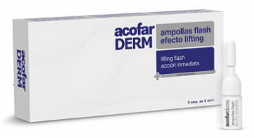 Acofar ampollas LIFTING FLASH 5 ampollas 2 ml - piel tersa, rosa mosqueta, soja