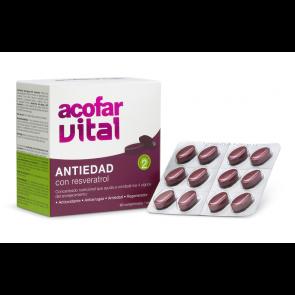 Acofar ANTIEDAD con resveratrol 60 comprimidos - granada, selenio, resveratrol, antiedad, antiarrugas, antioxidante