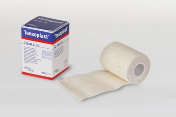 Tensoplast Venda Elástica Adhesiva 7,5cm x 4,5m - Vendaje de Contención Articular y Funcional