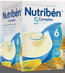 Nutribén Papilla 5 Cereales 300 gr