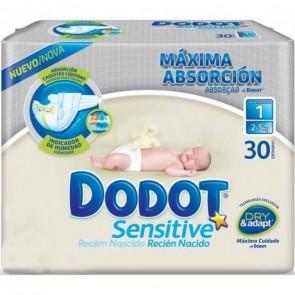 Dodot Sensitive Recién Nacido Talla 1  2-5 Kg 30 Unidades
