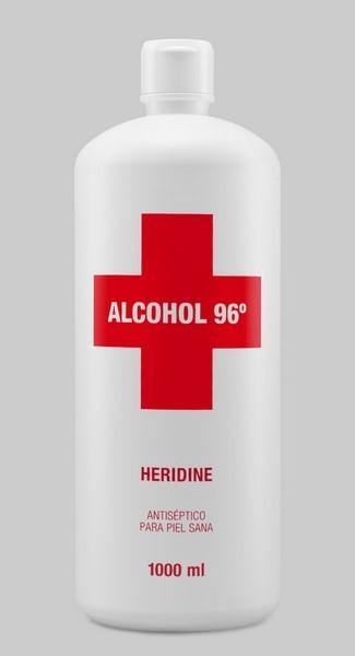 Heridine Alcohol 96 º de 1 L - Antiséptico y Antiséptico