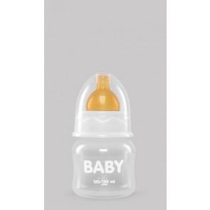 Biberón 125/150 ml de Boca Ancha con Tetina de Caucho Natural de Interapothek - Alimentación Bebés