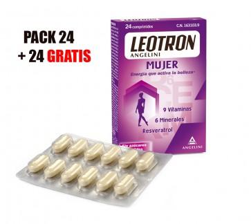 Pack Leotron Mujer Segunda Unidad Gratis  2x24 Comprimidos - Energia que aumenta la belleza