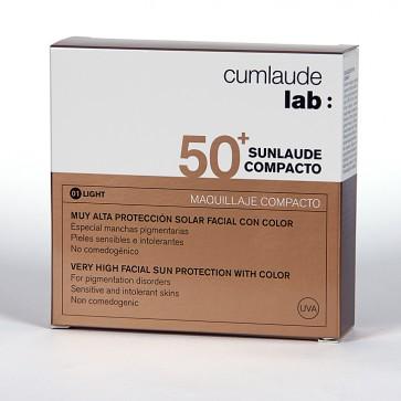 Sunlaude Compacto SPF 50+ Tono Light - Maquillaje Compacto Alta Protección, Pieles con Manchas
