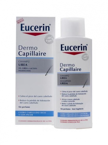 Eucerin Dermocapillaire Champú Urea 250 ml - Irritación, Picor, Hidratación
