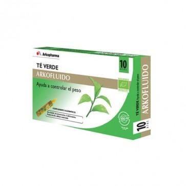 Arkofluido Té verde 10 ampollas - adelgazante, antioxidante, astringente