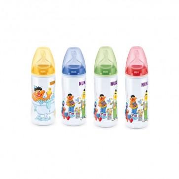 Biberón Nuk First Choice Barrio Sésamo 300 ml - Tetina Silicona T2 Niños de 6 a 18 meses - Nivel de Flujo L para Papillas