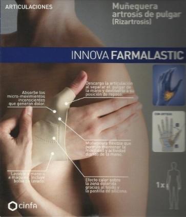 Muñequera Rizartrosis Artrosis de Pulgar Farmalastic Innova - Mano Izquierda Talla Pequeña (13-15 cm)