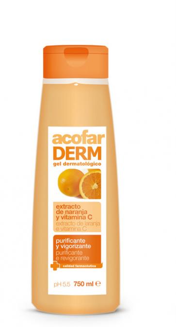 Acofar GEL naranja y vitamina C 750 ml - antioxidante, elasticidad