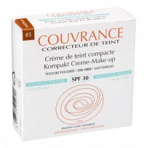 Avène Couvrance Crema Compacta Enriquecida Bronceado SPF 30 - Corrige Imperfecciones y Unifica el Tono de la Piel
