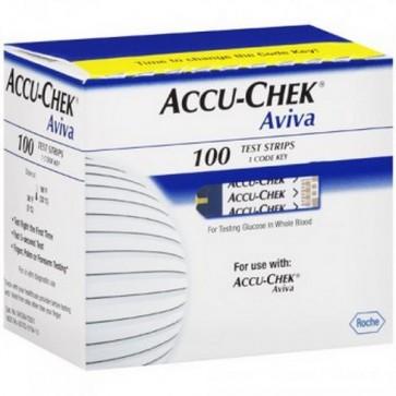 Accu-Check Aviva Tiras Reactivas 100 uds - Medición de Glucosa en Sangre