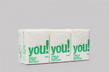 Pañuelos Bolsillo Mentolados -6 Paquetes de 9 Uds- de Interapothek - Muy Suaves y Resistentes