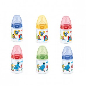 NUK First Choice+ Biberón Silicona Barrio Sesamo 150 ml 1M - Ideal Para Ser Su Primer Biberón