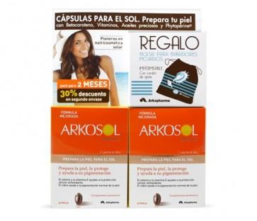 Arkosol Advance 30x2 Perlas - Prepara la Piel, Protege y Ayuda a su Pigmentación - Bolsa Bañador de Regalo