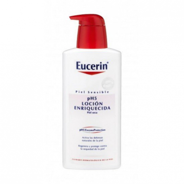 Eucerin Loción Enriquecida Piel Sensible pH5 200 ml - Vitamina E, Hidratación, Pieles Alérgicas