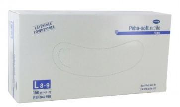 Peha Soft Guantes Nitrilo Fino T-L 100 U - Guante Desechable de Examen Médico Sin Látex