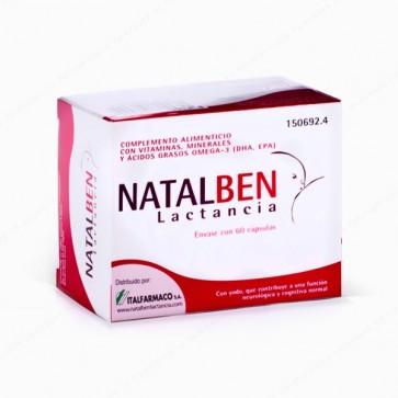 Natalben Lactancia 60 Cápsulas - Complemento Alimenticio durante la Lactancia