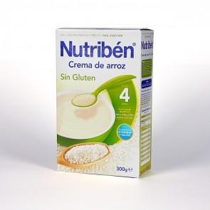 Papilla Nutribén Crema Arroz Sin Gluten 300 gr - Alimento Bebés +4 meses
