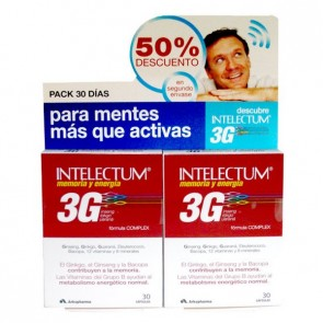 Pack Intelectum 3G Memoria y Energía 30 Cápsulas x 2 - Complemento para la Memoria y la Energía