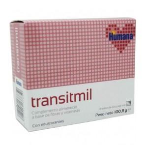 Transitmil 18 Sobres 5,6 Gramos - Fibra y Vitaminas, Facilita el Tránsito Intestinal