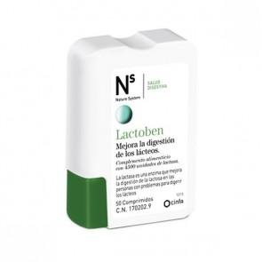 Lactoben 50 Comprimidos Nature System - Combate la Intolerancia Moderada o Leve a la Lactosa