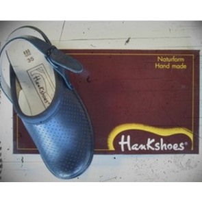 Zueco Hankshoes Relax Azul Nº 38 - Calzado Adulto