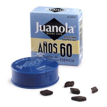 Juanola Años 60 Pastillas de Regaliz con Esencia - Garganta, Anís