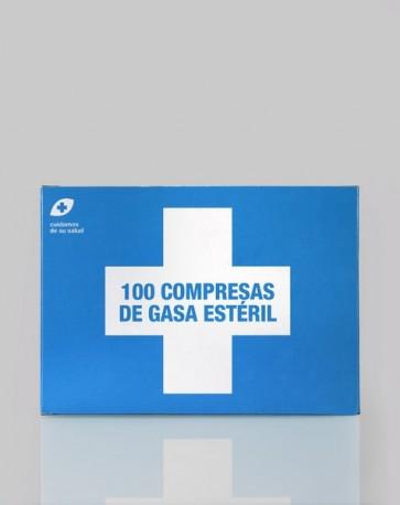 Interapothek 100 Compresas de Gasa Estéril - FORMATO AHORRO - Absorbentes y Suaves