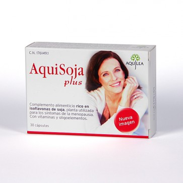 Aquisoja Plus 30 Cápsulas - Isoflalvonas de Soja, Menopausia y Huesos