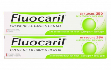 Pasta Dental Fluocaril Bi-Fluoré 250 Menta Duplo 2 x 125 ml - Limpieza Dental