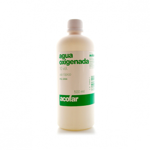 Acofar Agua Oxigenada 10 VOL 500 ml - Antiséptico, Curar Heridas