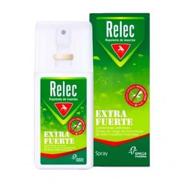 Relec Loción Extrafuerte Spray 75 ML - Repelente Anti-Mosquitos, Especial Zonas Tropicales
