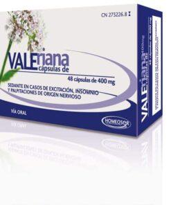 Comprar Homeosor Valeriana 400 mg 48 Cápsulas