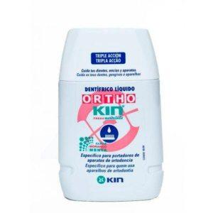 Comprar Ortho Kin Fresa Mentolada Dentífrico Liquido 100 ml es una pasta dental en formato líquido