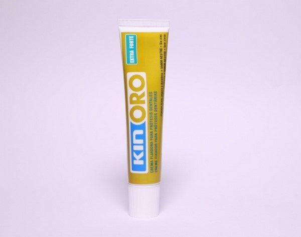 Comprar Kin Oro Gel Fijador 75 ml - Crema Dental Extra Fuerte Sin Sabor